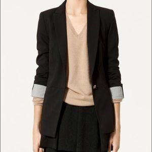 Zara one button black blazer